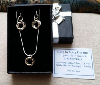 Signature Earrings and Pendant  Set